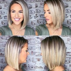 80 Bob Hairstyles To Give You All The Short Hair Inspiration - Hairstyles Trends Trending Hairstyles, Bob Hairstyles, Medium Hair Styles, Short Hair Styles, Hair Dos, Short Hair Cuts, Haircuts Straight Hair, Hair Trends, New Hair