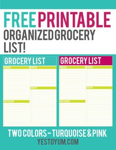 Healthy meal planning is a snap with these FREE printable grocery lists! Making a list will help you stay within your food budget.