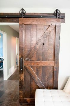 Sliding Barn Doors Inside House For More Interior Barn . Cleverly Use Interior Sliding Barn Doors In Your Home . Sliding Doors Like This Barn Door Allow Rooms To Be Hidden. Home and Family Hgtv Property Brothers, Barn Style Sliding Doors, Barn Door Designs, The Doors, Entry Doors, Patio Doors, Interior Barn Doors, Pantry Interior, Barn Door Hardware