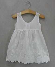 Look at this #zulilyfind! White Eyelet Dress - Toddler & Girls by Sweet Charlotte #zulilyfinds
