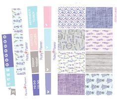 Lavender Full Kit   Erin Condren Planner Stickers