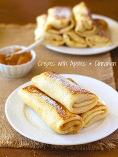 Crepes with Ricotta, Apples and Cinnamon
