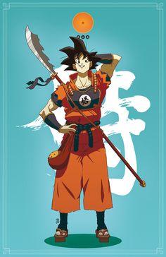 Allez hop, Vous me prenez les personnages de DB, rajoutez l'univers samouraïs version japon féodale, le tout au mixeur et vous obtenez ce magnifique travail de Daniel Jacob « Dragon Ball :...