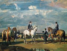 Sir Alfred Munnings   Why Weren't You Out Yesterday?