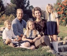 Happy: This family portrait was taken in 1972, three years before Juan Carlos was crowned King of Spain.