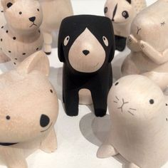 If you are looking for a Spririt Animal to guide you into 2015, we may just have the solution.The story behind the wooden T-Lab Wooden animals from Japanis just as beautiful as their final form.   Each animal is handmade and the designer, Tirabo, wanted