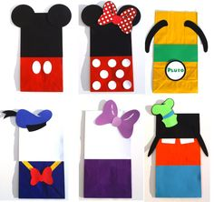 12 Mickey Mouse Clubhouse Themed Favor Loot Goody Bags Birthday Party Decoration - Mickey Red Minnie Donald Daisy Goofy Pluto by ScrapsToRemember on Etsy https://www.etsy.com/listing/174581346/12-mickey-mouse-clubhouse-themed-favor