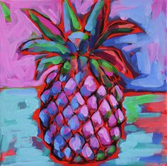"""Neat for kitchen artwork. * Pineapple means """"Welcome"""" * [Pineapple Series 6 – www.lauradrodesigns.com]"""