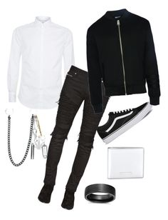 """""""Black in the sack"""" by milanedmonds-1 on Polyvore featuring Blue Nile, Vans, Palm Angels, Brunello Cucinelli, Balmain, Dear Deer, Yves Saint Laurent, men's fashion and menswear"""