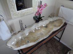 Modern Natural Stone Bathroom Vessel Sink - Double sink White Onyx BEAUTIFUL ! #thebeautifulsink