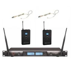 GTD Audio G-622S UHF 200 Channel Wireless Microphone System with Headset Mics (single ear hook) --- http://amzn.to/W5olUg