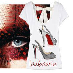 Louboutin t-shirt by fliper on Polyvore featuring polyvore, fashion, style, Christian Louboutin, clothing and louboutin