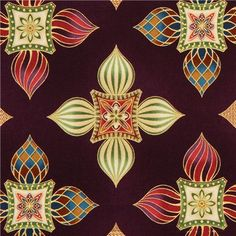 """Onion Tower Flowers Fabric by Robert Kaufman Collection: The Culture Club's """"Anastasia"""" Design: Leesa Chandler"""