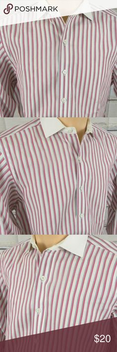 """Polo Ralph Lauren Mens Sz 15.5 Stripe Dress Shirt Inventory #A012  Brand:  POLO Ralph Lauren  Condition: This item is in Very Good Condition!   Item Specifics: Long Sleeve, Multi-Color Striped, Button Front, Button Spread Collar  Material:100% Cotton  Color:Red, White, Green Striped  Size: Mens 15.5"""" - 33""""   Pit to Pit (Across Chest):   23""""  Length (Top of Collar to Hem):   33""""  Sleeves (Top of Shoulder to Cuff) 25"""" Polo by Ralph Lauren Shirts Dress Shirts"""