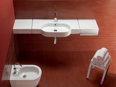 "The HATRIA AREA wall basin is an evolution of the bathroom sink into a unique piece of furniture, an area in which Hatria has already enjoyed success over the years. It's an example of a fusion of shape, space, minimal dimensions and forms make the Hatria Area wall basin is an ideal compact bathroom sink. <a href=""http://www.perthbathroompackages.com.au/hatria/hatria-area/"">Hatria Area</a>"