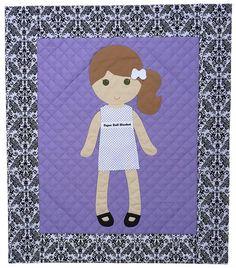 Morgan Dress Up Doll Quilt Paper Doll Pattern Quilt