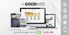 Download GoodWeb v1.4 – One & Multi Page WordPress Theme | Slicontrol.Net