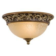 2 Light Flush Mount Ceiling Fixture from the Salon Grand Collection