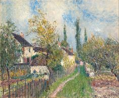 Alfred Sisley - Un sentier aux Sablons (A path at Les Sablons) - Google Art Project - Alfred Sisley - Wikipedia, the free encyclopedia