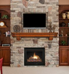 impressive brown fireplace mantel design inspiration with gray excerpt rock home theater decor home