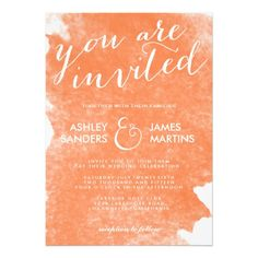DealsCHIC ORANGE WATERCOLOR WEDDING INVITATIONonline after you search a lot for where to buy