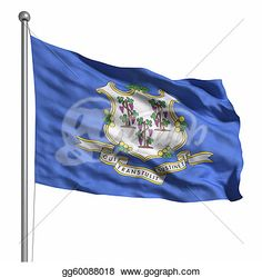 """""""Flag of Connecticut"""" -Connecticut Stock Photo from gograph.com"""