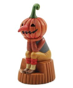 Look at this Pumpkin-Head Figurine on #zulily today!