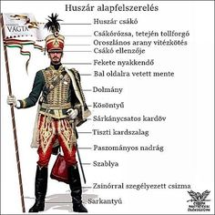 Fehérvári Huszár - Hungarian Hussar of the Hungarian Revolution Austrian Empire, French Revolution, School Decorations, Spring Crafts, Projects For Kids, Preschool Activities, Budapest, Coloring Books, Military