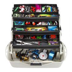 Trademark Wakeman Fishing 3-Tray Tackle Box Organizer - 18 inch