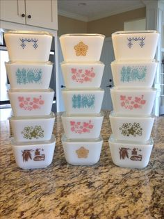 Pyrex; refrigerator dishes