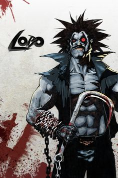 lobo comic art | Lobo (after Simon Bisley) by ezy-e on deviantART