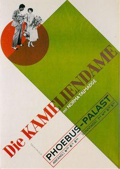 Jan Tschichold: Die Kameliendame Poster