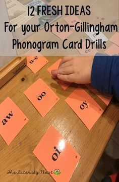 12 Fresh Ideas for Your Phonogram Card Drills while using the Orton-Gillingham approach: Ideas for the visual drill and auditory drill. Use for the Orton-Gillingham three part drill. The Literacy Nest Dyslexia Activities, Dyslexia Teaching, Teaching Phonics, Phonics Activities, Teaching Reading, Guided Reading, Learning Disabilities, Reading Activities, Reading Tutoring