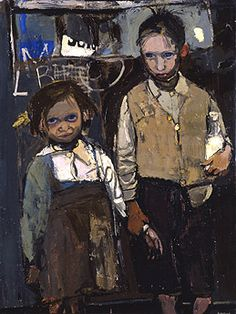 Brother and Sister by Joan Kathleen Harding Eardley Date painted: 1955 Oil on canvas, x cm Collection: Aberdeen Art Gallery Museums Figure Painting, Painting & Drawing, Portrait Art, Portraits, Aberdeen Art Gallery, Figurative Kunst, Inspiration Art, Art Uk, Art Plastique
