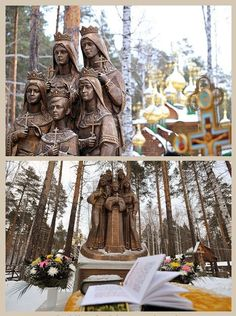 Monument to the Children of Nicholas II Near Ekaterinburg A mounment to the children of Tsar Nicholas II was unveiled in 2011 on the grounds of the Ganina Yama monastery complex, where the remains of. Anastasia Romanov, Queen Victoria Prince Albert, Royal Christmas, Grand Duchess Olga, Tsar Nicholas Ii, Historical Artifacts, Imperial Russia, Royal Weddings, Russian Art