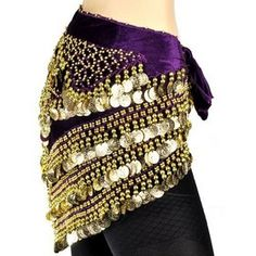 BellyLady Belly Dance Gypsy Tribal Belt with Fringe Belly Dance Hip Scarf BellyLady Belly Dance Exclusive Velour Belly Dance Hip Scarf, 410 Gold Coins, Deluxe V-Shape Style Belly Dance Outfit, Belly Dance Costumes, Zumba Outfit, Dance Pants, Dance Tops, Tribal Fusion, How To Make Clothes, Belly Dancers, Just Dance