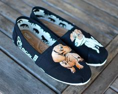 Custom Hand Painted Dachshund & Jack Russell Terrier Toms shoes - Get your dogs painted on your sneakers! - Customizable on Etsy, $169.00