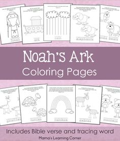 Download this 11-page set of free Noah's Ark Coloring Pages.