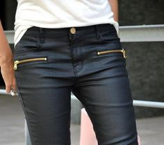 Black wax skinnies.