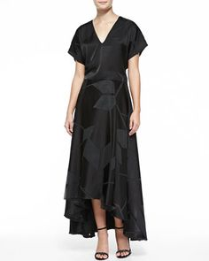Mapton Cropped V-Neck Dolman Top & Floor-Length Skirt W/ Box Pleats by Alice + Olivia at Bergdorf Goodman.