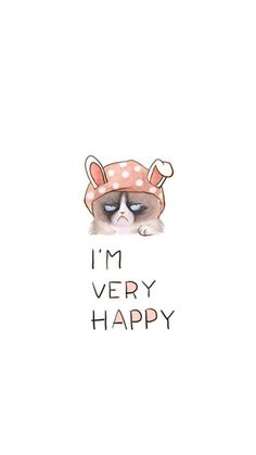 Im Very Happy Wallpaper Backgrounds Phone Iphone Cat Tumblr Lockscreen