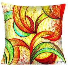 CAPA ALMOFADA PERFEITA PARA DECORAR. <br>Capa de almofada da série:Uni Duni Tê, com reproduções de quadros da Artista Plástica Rose Canazzaro para enriquecer a decoração da sua casa. Divirta-se decorando com arte!! <br>Tecido Microfibra <br>Zíper embutido <br>Impressão frente e verso. <br>Lavar a mão