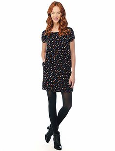 Splendid Mod Dot Shift Dress. #celebrateeveryday