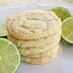 The Cookie Monster hits Vegas - Chewy Coconut Lime Sugar Cookies | The Girl Who Ate Everything