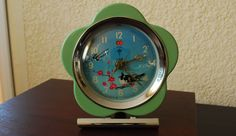 * S A L E *  Vintage Animated Pecking Swallow Hen Alarm Clock China 1970's