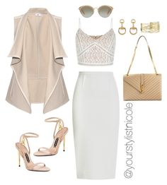 """Nude & White"" by nicolemorris87 on Polyvore featuring Vince, Roland Mouret, New Look, Tom Ford, Yves Saint Laurent, Gucci and Miu Miu"