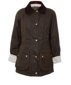 Barbour Olive Katie and Millie Liberty Print Beadnell Jacket | Womenswear | Liberty.co.uk