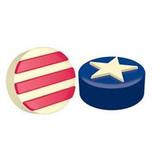 Chocolate Covered Oreos Stars & Stripes Mold  http://www.fancyflours.com/product/Chocolate-Covered-Oreos-Stars-Stripes-Mold/4th-of-july-party-theme