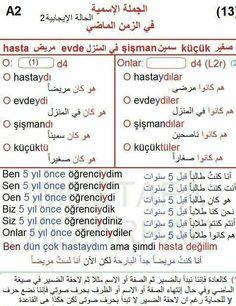 الجملة الاسمية في الزمن الماضي في اللغة التركية