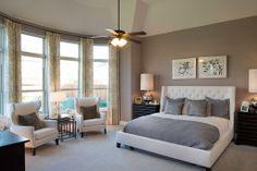 Highland Homes | Lawler Park 75s | Master Bedroom | Frisco, TX | Plan 296